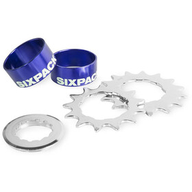 Sixpack Single Speed Kit - Cassette - azul